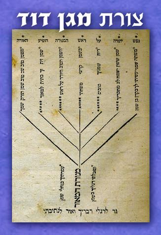 צורת מגן דוד שהיא מנורה