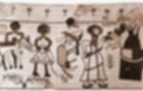 אבות,אברהם יצחק יעקב,עקדת יצחק,אבותינו הקדושים,בית אלפא,פסיפס
