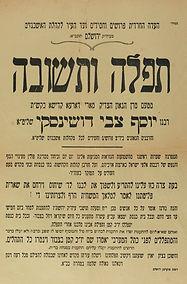 רבי יוסף צבי דושינסקי,השואה,עצרת תפילה,כותל המערבי