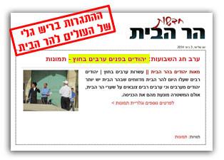 העולים להר הבית מתגרים בישמעאלים מבלי לחשוב על התוצאות של הריגת יהודים