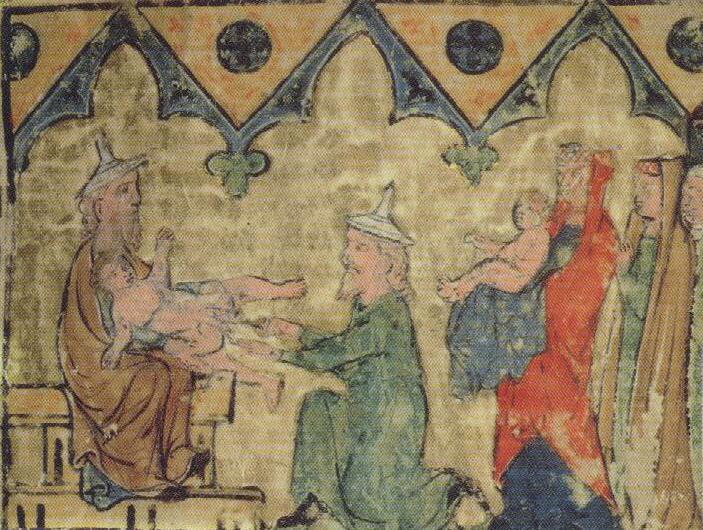 """ברית מילה ליצחק אבינו ע""""ה (ליגטורה מאת דוד בר שבתאי, רגנשבורג, ה'ס בקירוב)"""