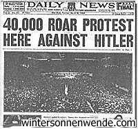 הפגנה של 40000 ציונים מאמריקה נגד גרמניה בשנת 1933