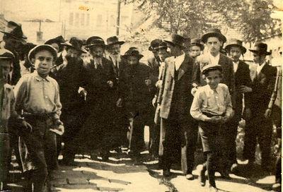 הרבי מסאטמר בביקור בעיר סעקעלהיד לפני הש