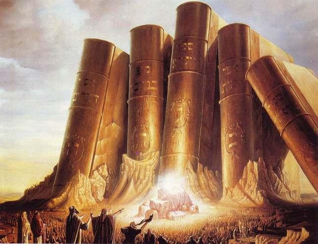 """מעמד הר סיני, זוה""""ק פרשת משפטים 'דא מאן דיתעסק בספרין אחרנין דלא מסטרא דאורייתא, לא ישמע על פיך, דאסור אפילו לאדכרא לון ולמילף מנייהו טעמא, כל שכן על אורייתא'"""