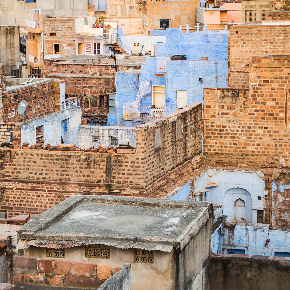 Cluster of houses in Jodhpur, India