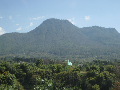 Church and Mountain in Mexico