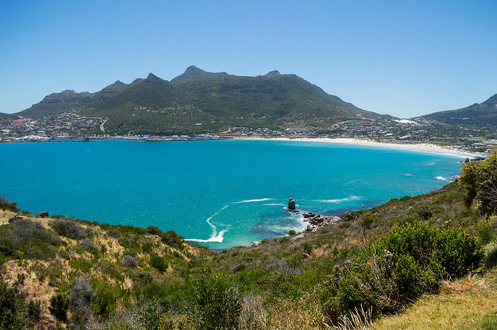 A bay with turquoise water, Western Cape, South Africa