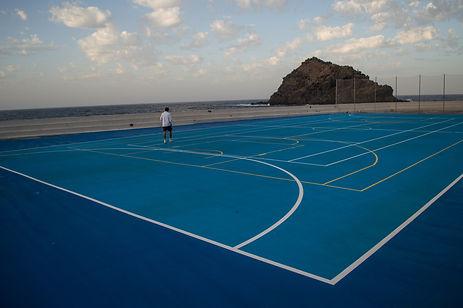 Tennis court in Tenerife, Spain