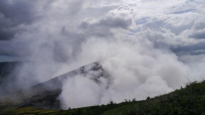 Fumes at Masaya Volcano in Nicaragua