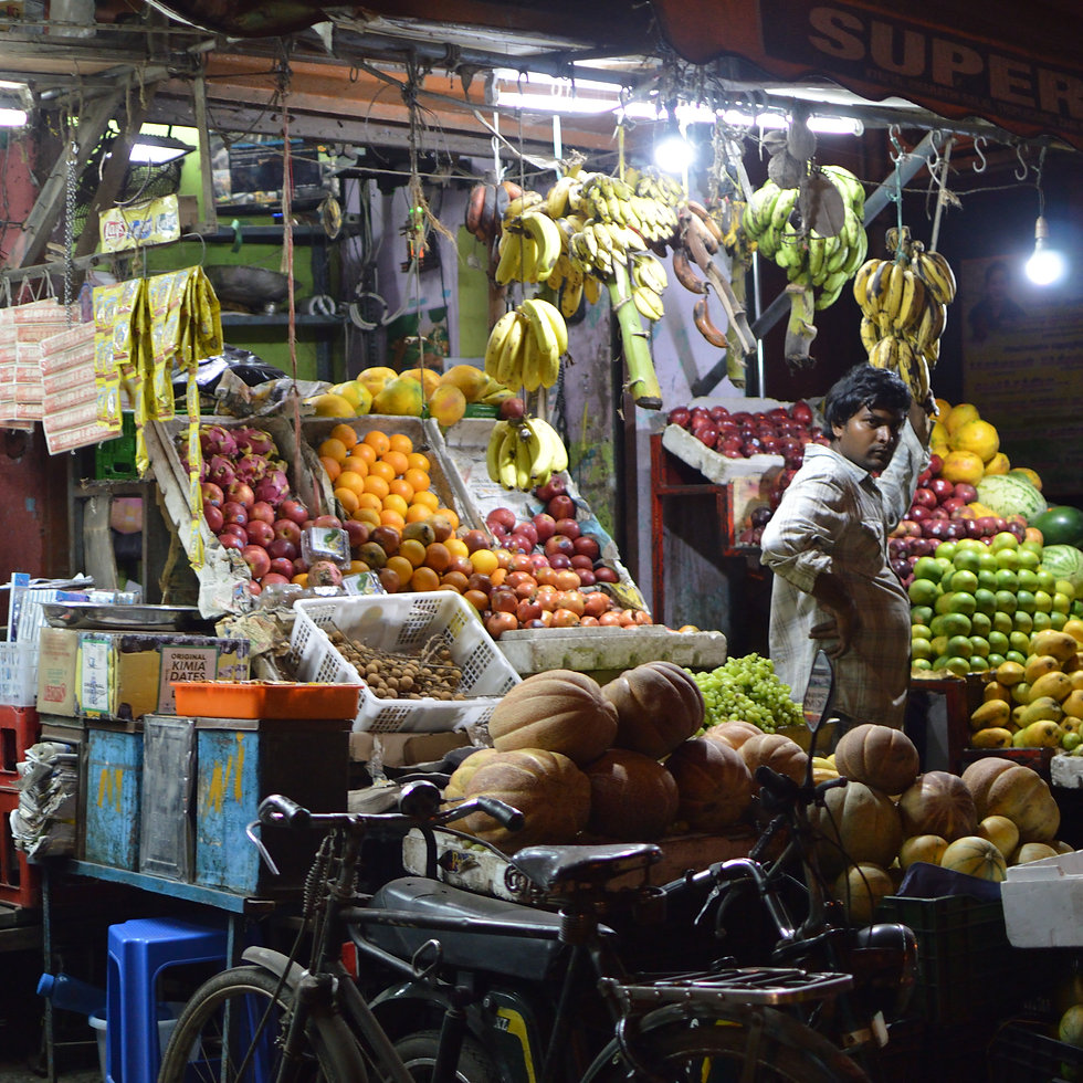 A fruit store in Chennai, India