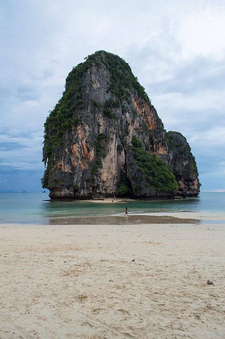 Lime stone formations at Phra Nang Beach in Thailand's Krabi Region