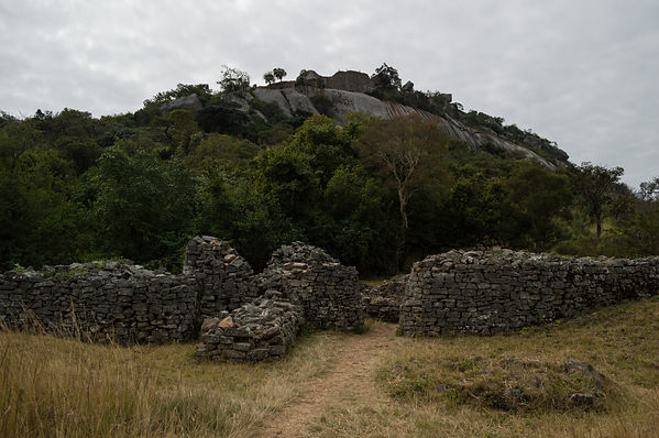 Wall and rocks at Great Zimbabwe