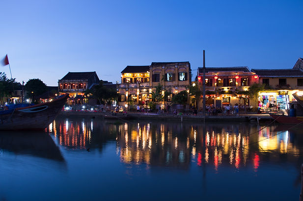 French colonial buildings in Hoi An, Vietnam