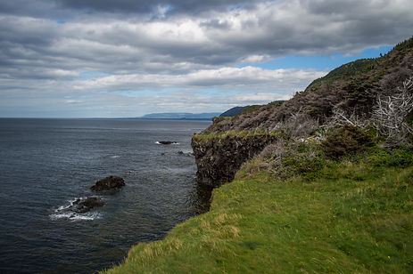 Cliffs and the sea in Newfoundland, Canada