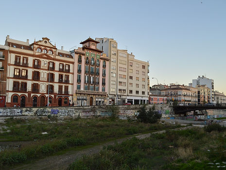 Mixed architecture in Malaga, Spain