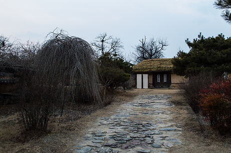 Traditional house at Hahoe folk village in South Korea