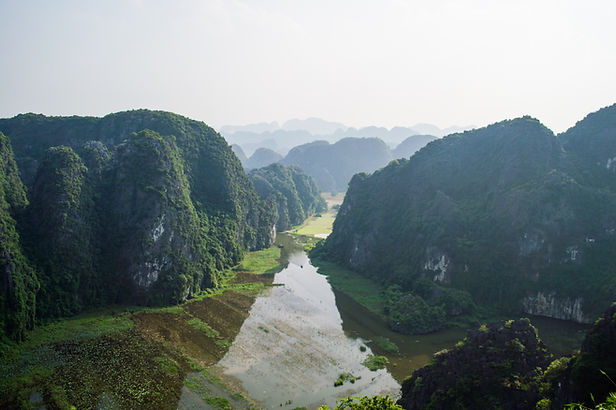 Tam Coc valley in Vietnam seen from Mua Caves Lookout