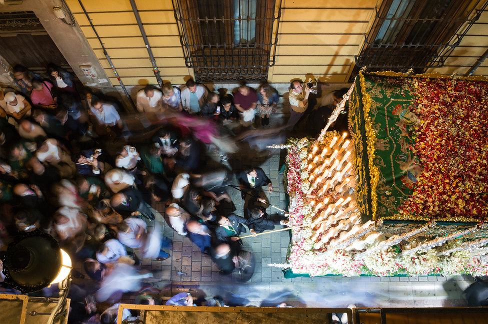A religious procession in Granada, Spain