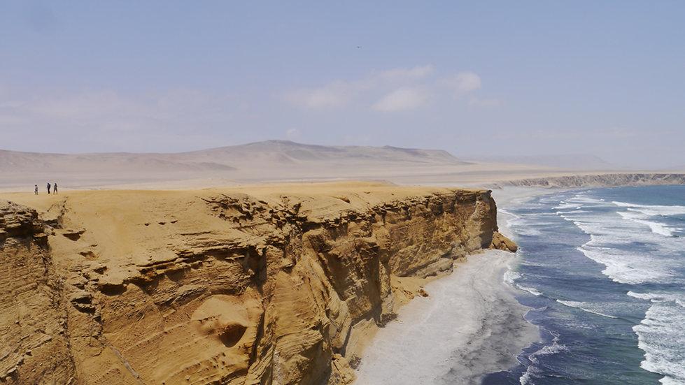 Cliffs and Ocean in Paracas, Peru