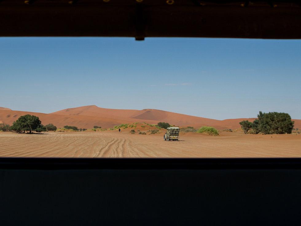Jeep in the Namib Desert