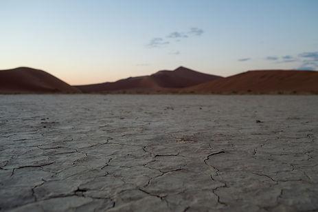 Dry soil in the Namib Desert