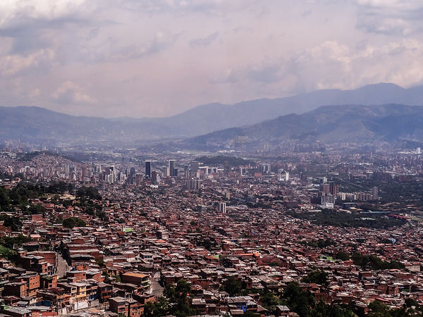 Panorama of Medellin, Colombia
