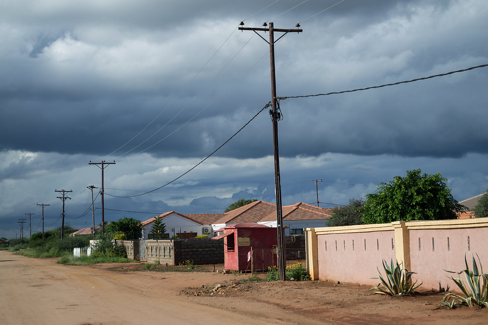 Tlokweng village in Botswana