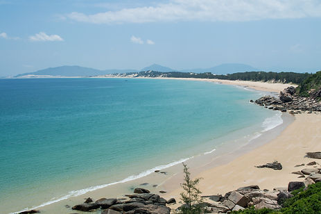 Bay with turquoise water in Vietnam