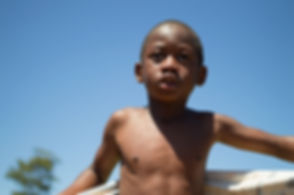 Kid in a South African orphanage