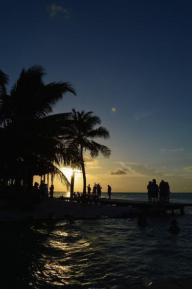 Sunset at the Split, Caye Caulker, Belize