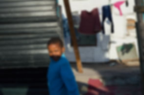 Kid in a South African township