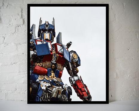 the real Optimus Prime - Mockup Vertical