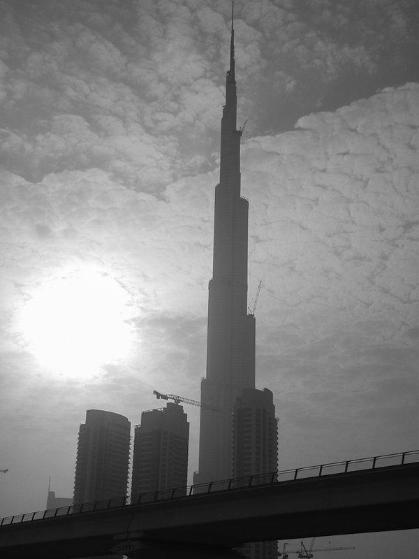 Burj Khalifa under construction in 2009