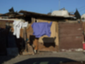 Huts in Cape Town's Cape Flats township
