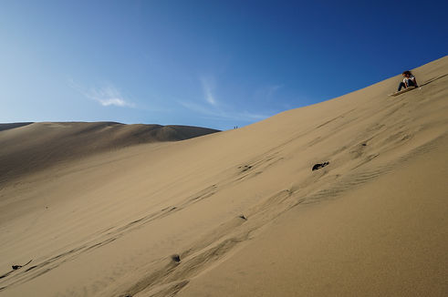 Desert Dune at Huacachina Oasis near Ica in Peru