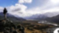 Hiking at El Chalten in Patagonia, Argentina