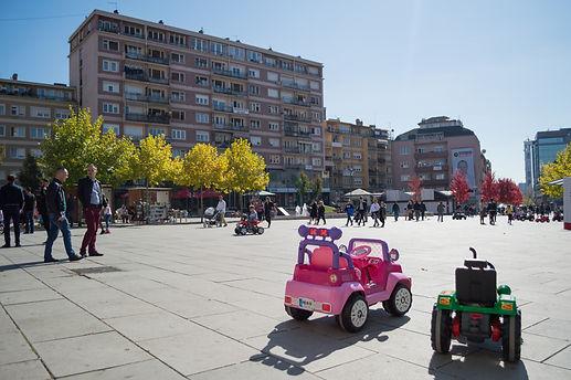 Main square in Pristina, Kosovo