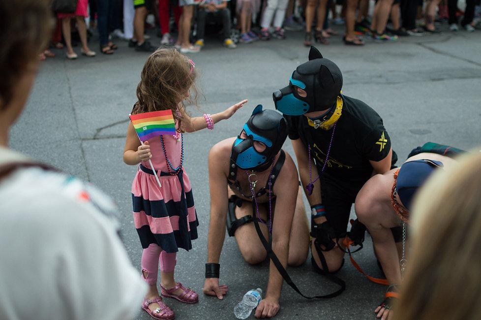 Pride parade in Montreal, Canada