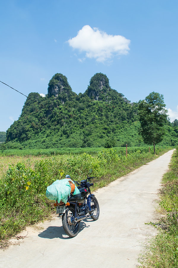Lime stone formations in Vietnam
