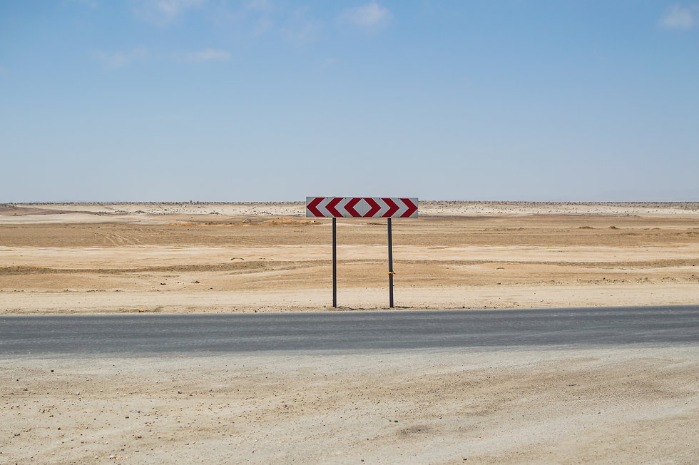 desert highway in Namibia