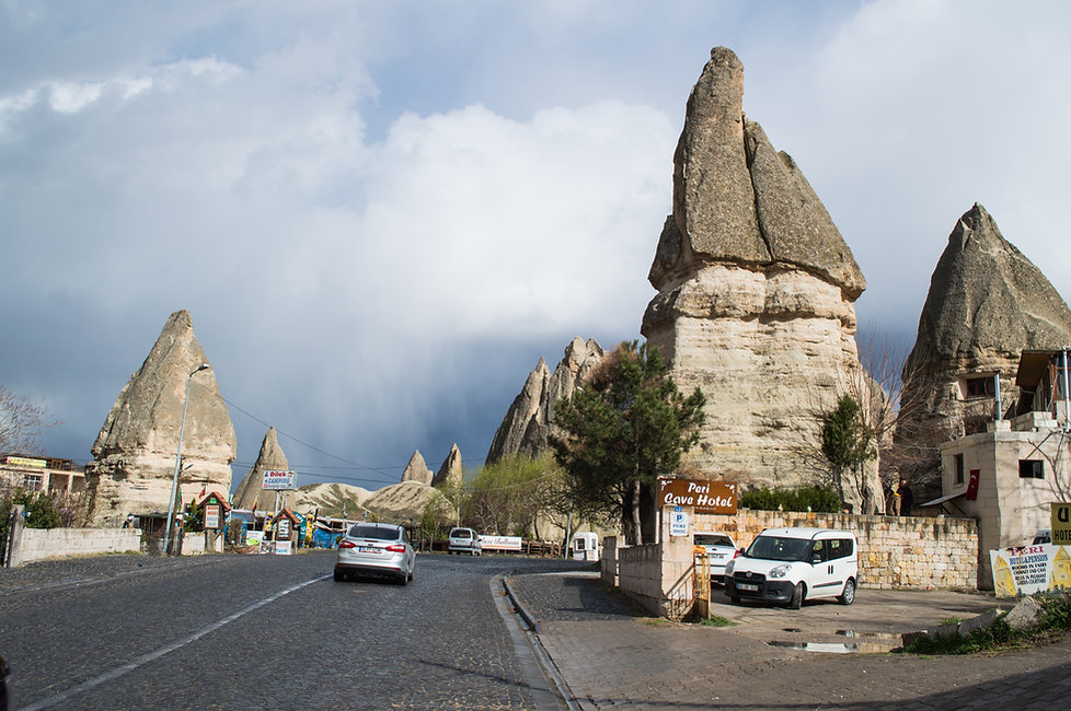 Stone houses in Cappadocia, Turkey