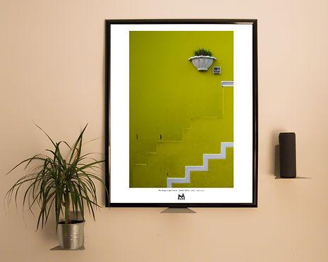 yellow stairs - Mockup Vertical Wall Nig