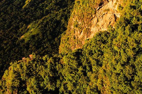 Cliffs at Lake Atitlán, Guatemala