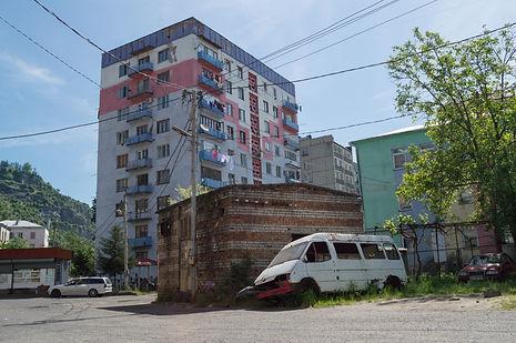 Apartment building in Chiatura, Georgia