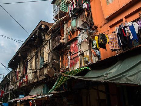 Impoverished neighborhood in Manila, Philippines