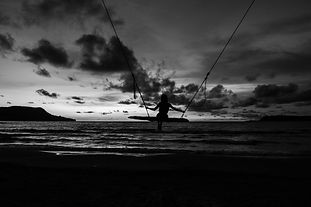 swing at Lonely Beach in Cambodia during sunset