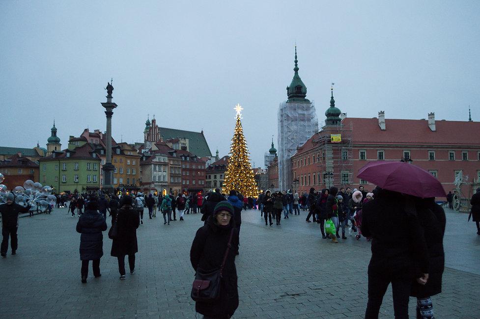 Pedestrian zone in Warsaw, Poland