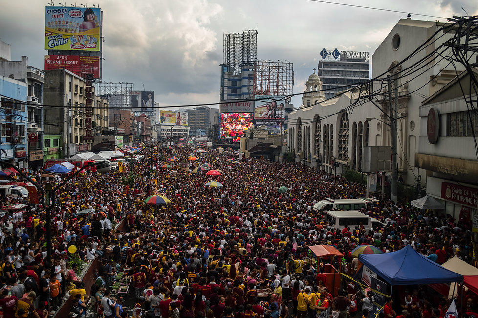 Thousands of Christian devotees during the Black Nazarene celebration in Manila, Philippines