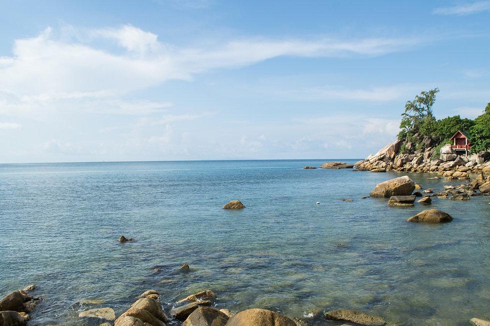 Quiet beach in Ko Pha Ngan, Thailand