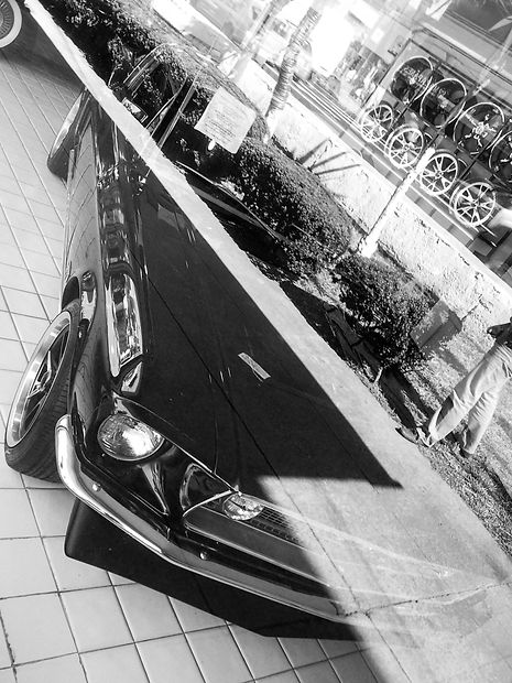 Ford Mustang at a showroom in Mexico City